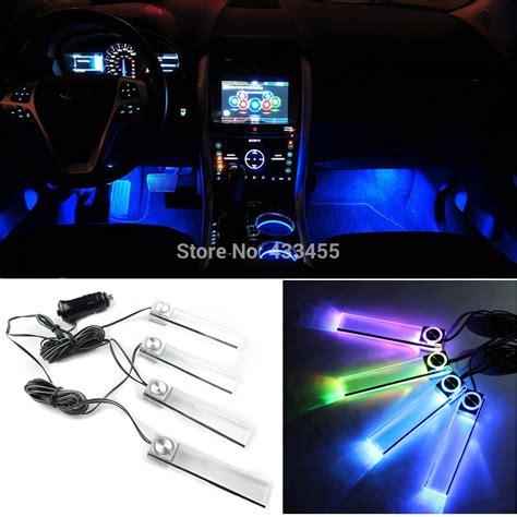 interieur led verlichting auto 4pcs set multicolor automotive ambient light car led mood