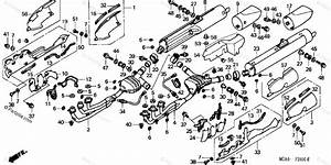 Honda Motorcycle 2004 Oem Parts Diagram For Muffler