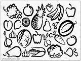 Salad Fruit Coloring Drawing Printable Getdrawings Device Computer sketch template