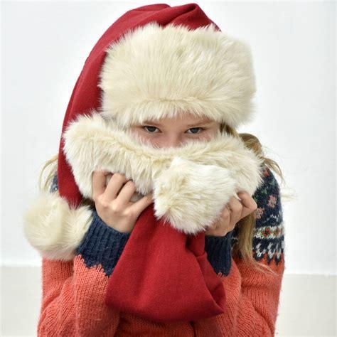 luxury christmas hats luxury santa hat by santa s workshop notonthehighstreet
