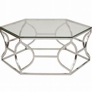 Coffee tables ideas unique hexagonal coffee table with for Hexagon coffee table glass