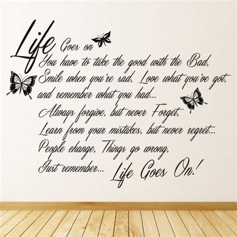 life   wall sticker quote wall art