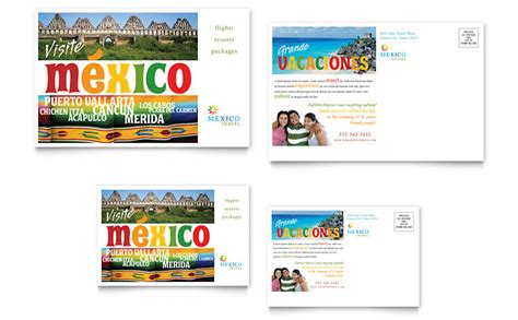 travel template video editing mexico travel postcard template word publisher