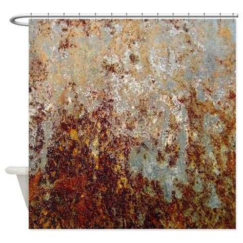 rust shower curtain rust shower curtain by poptopia1