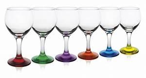 Verre A Vin Sans Pied : verre vin pied couleur verre ballon verre ballon vin pied couleur ~ Teatrodelosmanantiales.com Idées de Décoration