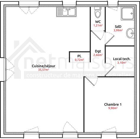 plan maison 2 chambres plan maison plain pied 2 chambres sans garage bricolage