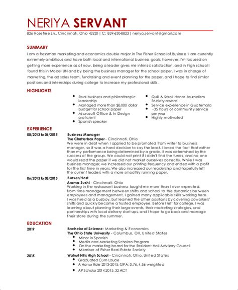 sample waiter resume sample waitress resume 6 examples in word pdf
