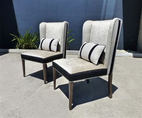 white wingback chairs wingback dining chairs black and white timeless