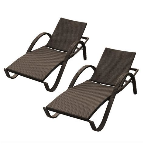 Chaise Lounge by Rst Brands Deco Patio Chaise Lounges Set Of 2 Op Peal
