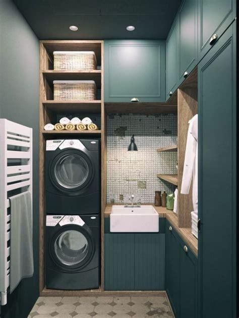 lave linge dans cuisine déco salon amenagement deux lave linge