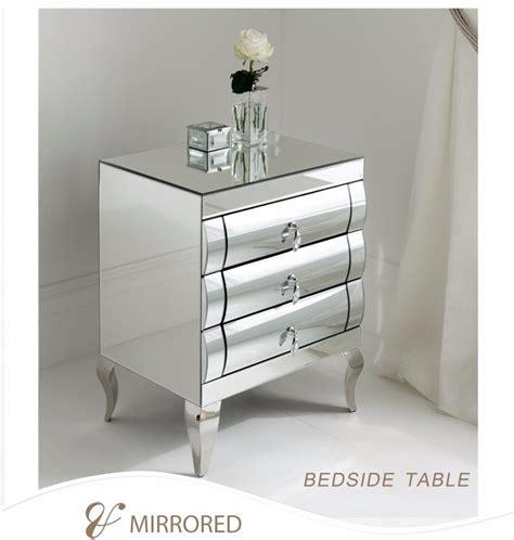 lade per comodini moderne moderne gebogen mirrored lades smalle kleine spiegel