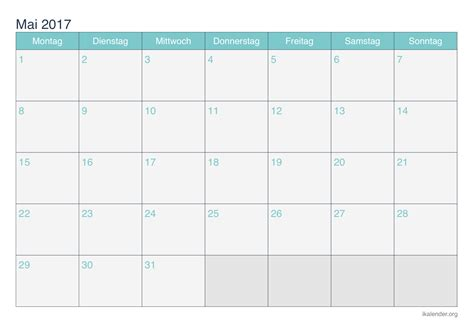 kalender mai zum ausdrucken ikalenderorg