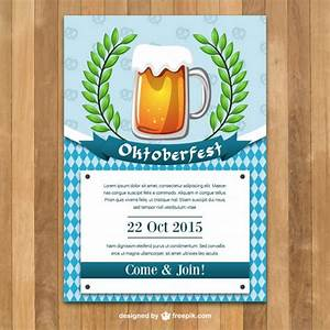 Oktoberfest poster template Vector | Free Download