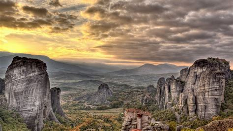 meteora rock temples greece  wallpaperscom