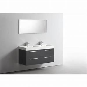 ensemble meuble salle de bains double vasque 120 cm ideo 2 With ensemble meuble double vasque 120
