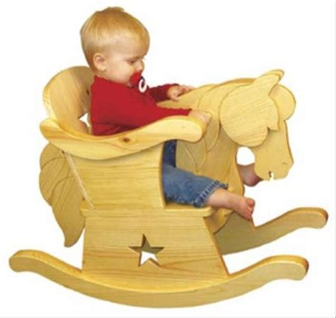 infant rocking horse chair woodworking plan