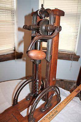 primitive barn beam drill press boring hand tool