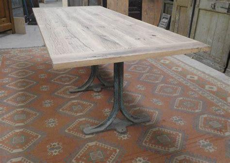 plateau table cuisine fabrication table en vieux bois