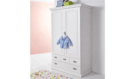 Wäscheschrank Odette Kleiderschrank Kiefer Massiv Weiß