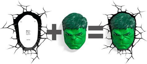 amazon com 3dlightfx marvel avengers hulk face 3d deco