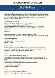 resume templates for substitute substitute resume sle resume writing service