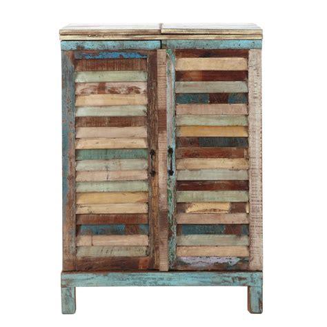 tabouret siege tracteur meuble de bar en bois recyclé multicolore l 75 cm calanque