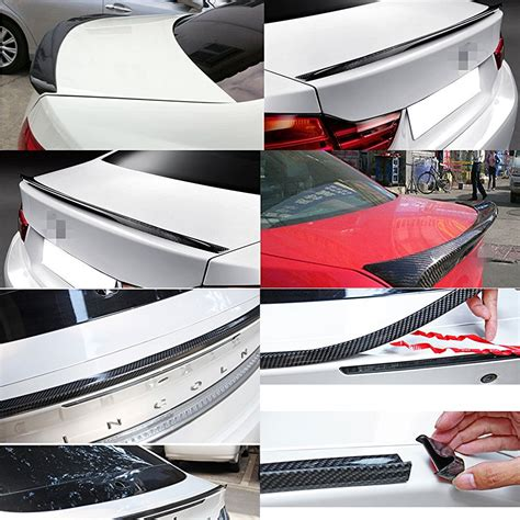 1.5m Pu Diy Car Rear Roof Trunk Spoiler Carbon Fiber Paint