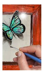 How to paint 3D Butterfly. Blue Butterflies Acrylic ...