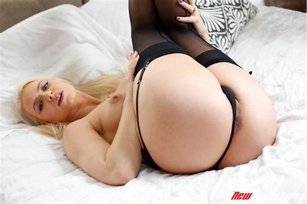 #Anikka #Albrite #In #Black #Stockings #And #High #Heels #Posing #On