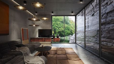 4 homes using concrete as a stylish accent interior