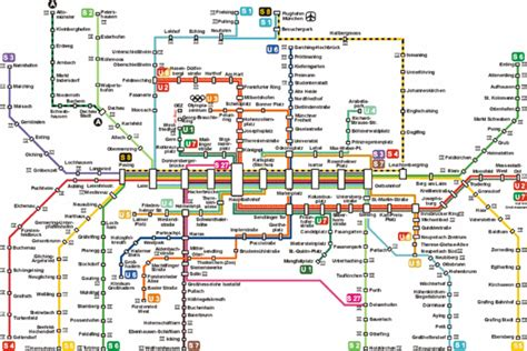munich metro map munich germany mappery