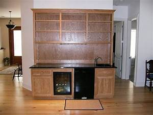 Hand Made Oak Wet Bar by Wood Tech Cabinets, LLC
