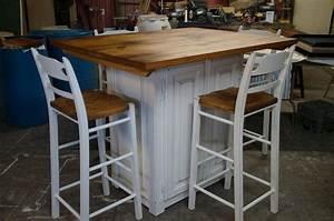 Ilot Cuisine Table : table ilot bois ~ Teatrodelosmanantiales.com Idées de Décoration