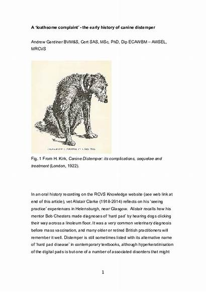Canine Distemper History Early Academia