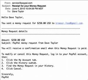 how do i request a payment via paypal ask dave taylor With how to write an email requesting an invoice