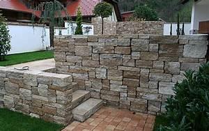 Natursteinmauern Im Garten : mauern hangbefestigungen natursteinmauern betonsteinmauern winterhalter projektbau ~ Markanthonyermac.com Haus und Dekorationen