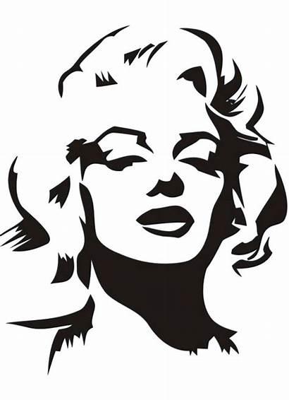 Monroe Marilyn Silhouette Lips Clipart Stencil Clipground