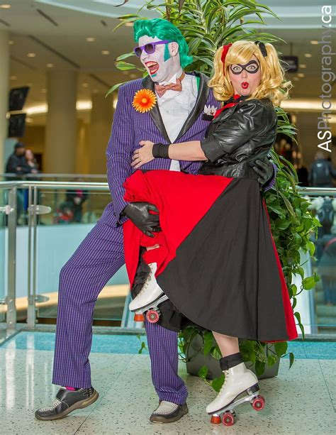 50s Joker And Harley Quinn By Critical Miss And Retro Joad