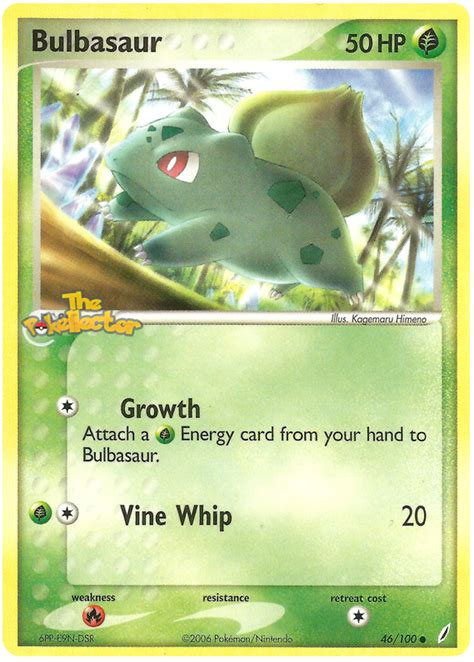 You'll have to do this one at a time. Bulbasaur - EX Crystal Guardians #46 Pokemon Card