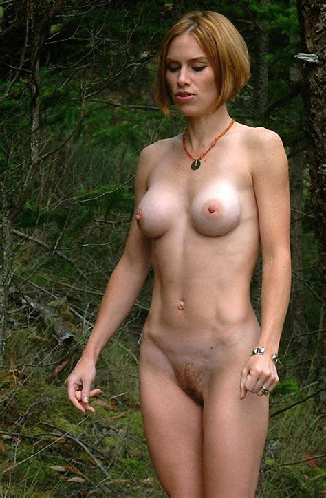 Short Hair Freckles Small Tits Perky Nipples Redhead Bush Out Side Sexy Nude Female Tits Pussy