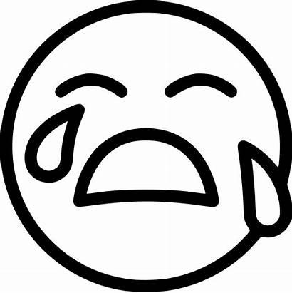 Cry Icon Llorar Face Emoticon Emoji Icons