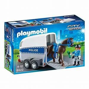 Magasin Action 93 : 6922 polici re avec cheval et remorque playmobil city action playmobil king jouet playmobil ~ Medecine-chirurgie-esthetiques.com Avis de Voitures