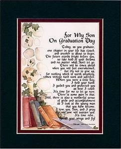 """""""For My Son on Graduation Day"""" Touching 8x10 Poem, Double ..."""