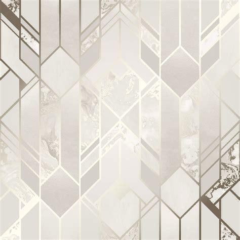 I Love Wallpaper Liquid Marble Geometric Wallpaper Cream