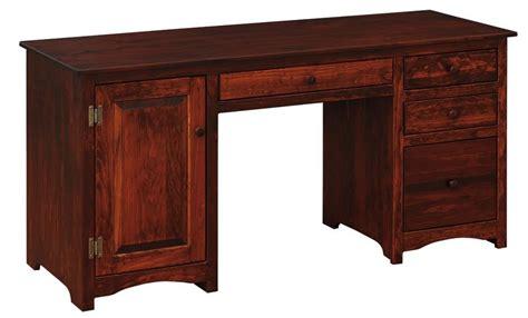 wood computer desk amish pine wood computer desk