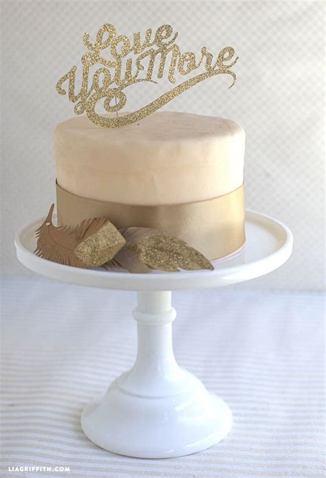 Sparkly Diy Cake Toppers For Wedding Or Birthdays