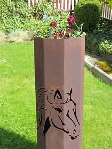 Rost Von Metall Entfernen : 8eck s ule pferd s ule rost edelrost rost deko garten deko ~ Lizthompson.info Haus und Dekorationen