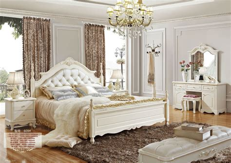 chambre royale 5 luxe français néo classique meubles de chambre blanche