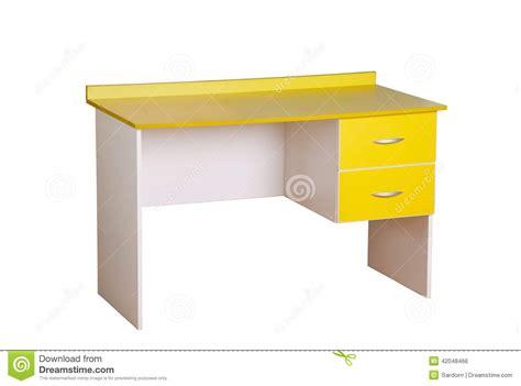 bureau jaune d 233 tude photo stock image 42048466