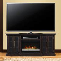 espresso brown fireplace  tv stand rc willey